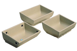 Single polymer troughs